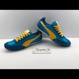 Puma Classics Blue/Yellow Women's 6.5 Like new